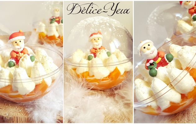 Boules de Noël {Mangue & Chantilly mascarpone vanille}