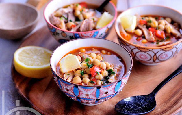 Chorba aux pois-chiches et poulet libanaise