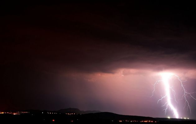 Les orages de la nuit autour de Montpellier