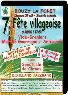 Fête villageoise du 30 août 2015 à Bouzy-la-Forêt
