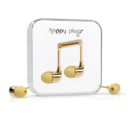 J'ai testé les Ecouteurs intra-auriculaires Happy Plugs EarBud Deluxe Edition - Or [MobileFun]
