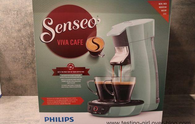 La machine à dosettes Senseo Viva Café Vert d'eau de Philips