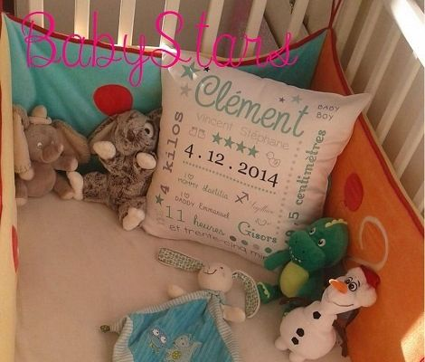 Un super souvenir de naissance avec le coussin BabyStars