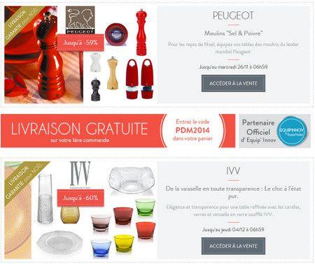 Privilège de Marque, le site de vente privée pour les passionnés de cuisine