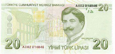 L'architecte Mimar Kemaleddin , l'homme du billet vert turc.