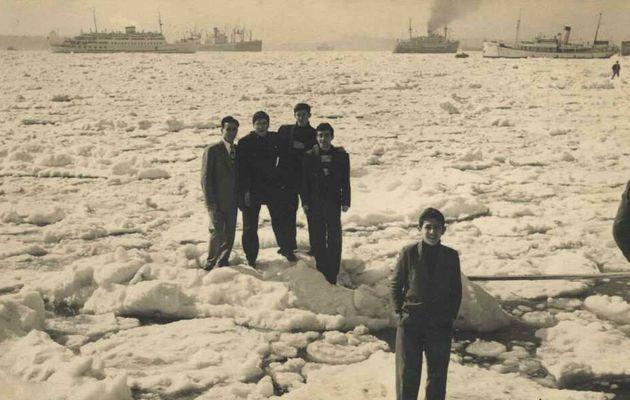 Lorsque l'on passait d'Asie en Europe sur la Glace, hiver 1954