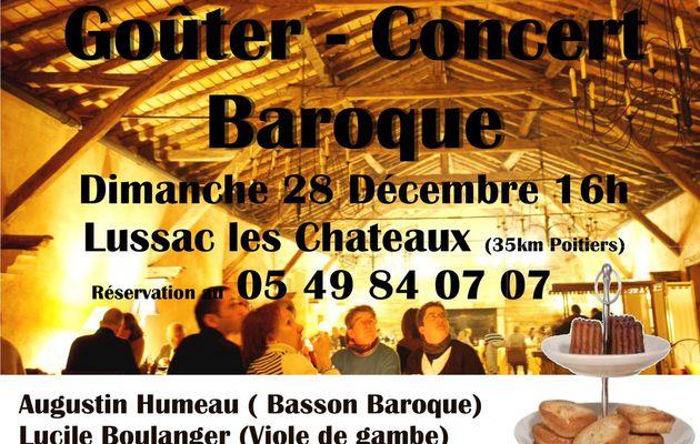 Goûter de Noel et concert Baroque Dimanche 28/12