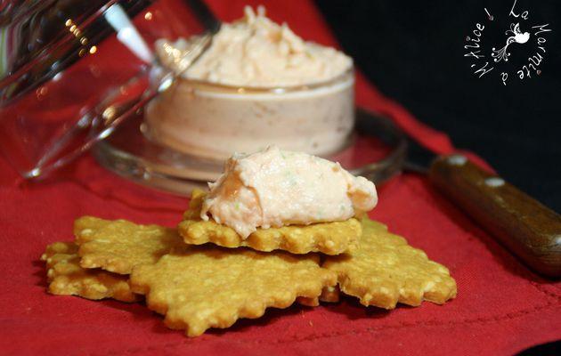 Mousse de Saumon Fumé comme un Mojito & Crackers au Parmesan