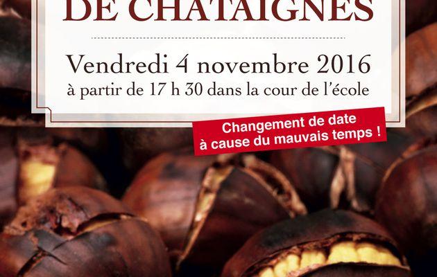 Grillée de châtaignes reportée au vendredi 4 novembre à 17h15/20h30
