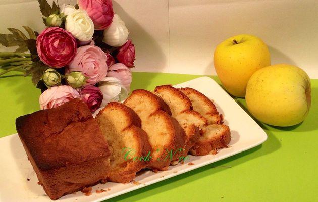 Quatre-quarts aux pommes safranées (pour 6 à 8 personnes)