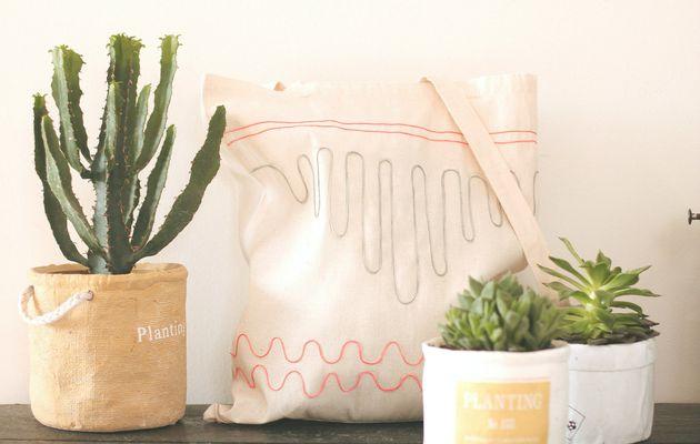 Tote bag mexicain pour tester la colle textile