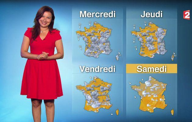 📸2 📺1 ANAIS BAYDEMIR ce midi pour LA METEO @France2tv #vuesalatele