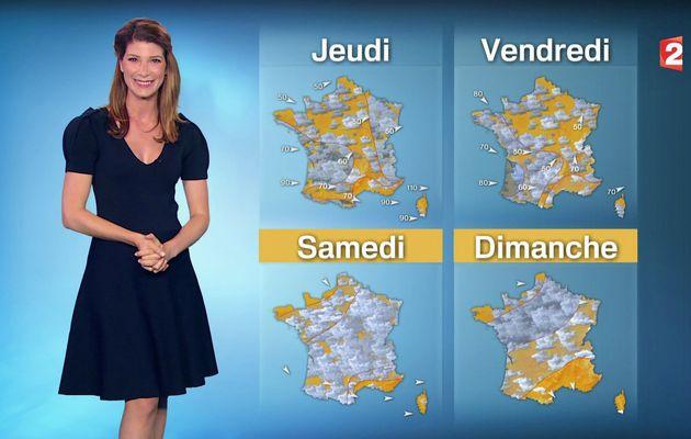 📸1 📺1 CHLOE NABEDIAN @ChloeNabedian @Soniadsm ce soir pour LA METEO @France2tv #vuesalatele