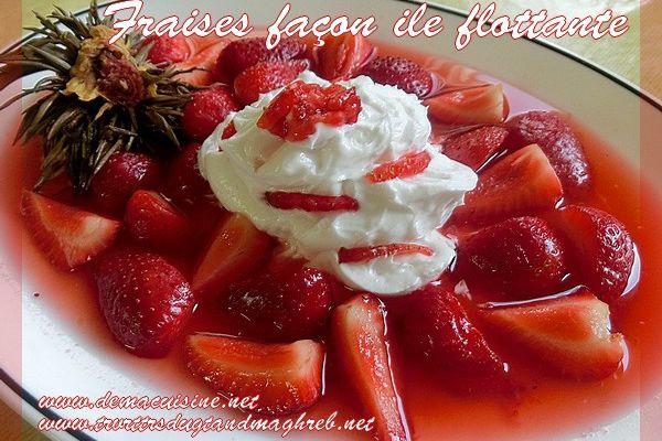 Dessert au fraises, Fleur de thé