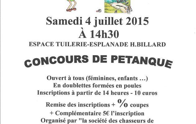 concours de pétanque des chasseurs Montchanin-04.07.2015
