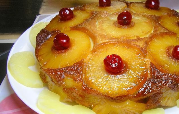 gâteau a l'ananas antillais,l'authentique