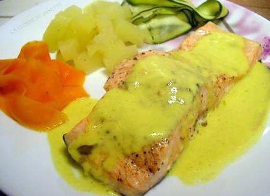saumon au curry a la vapeur