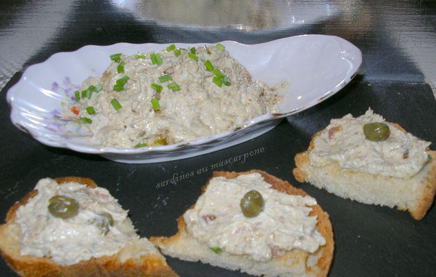 sardinettes au mascarpone