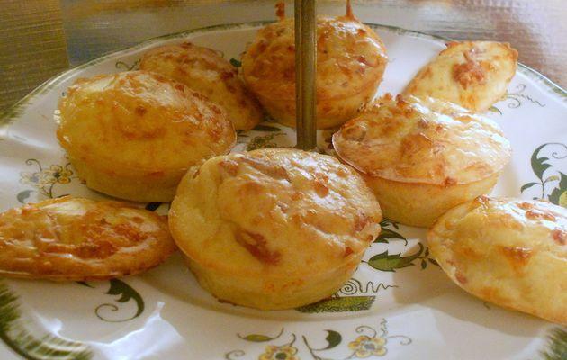 muffins salé aux lardons et fromage râpé