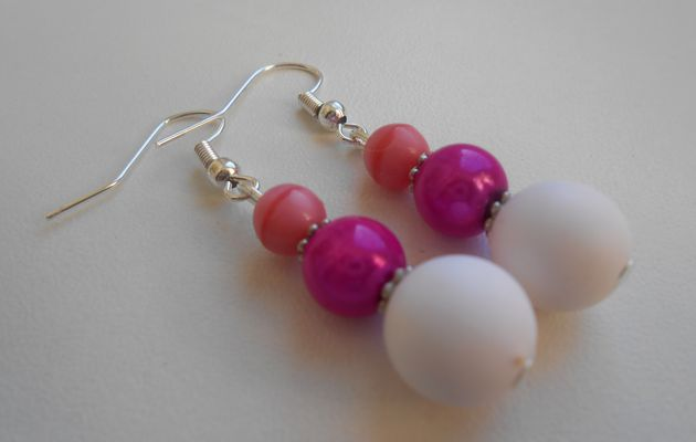 "DIY: boucles d'oreilles ""berlingot"" roses °facile°"