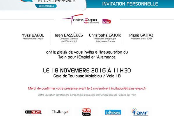 Le Train pour l'Emploi et l'Alternance à Toulouse
