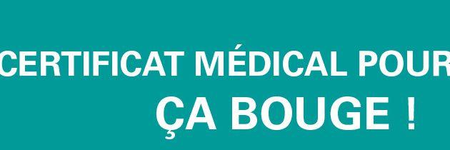 """Communiqué du Ministère des Sports : """" Le certificat médical pour le sport, ÇA BOUGE ! """""""