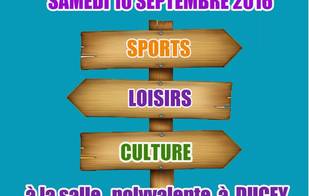 Forum des associations à Ducey rdv 10 septembre 2016