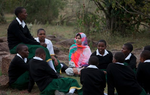 Malala makes her first trip to Africa