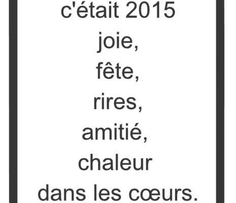 Bonne année 2016 soit la meilleure