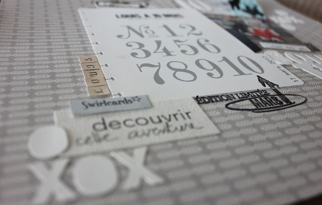 """enfin une page"""" 10 mois """" inspiration Typographie """""""
