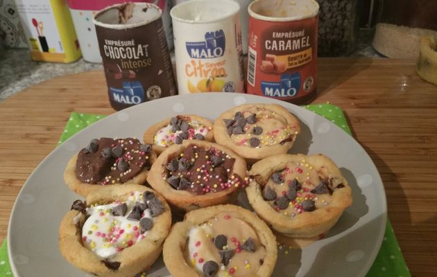 Cookies pot au yaourt Malo
