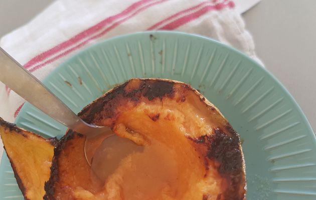 Melon grillé au miel et gingembre