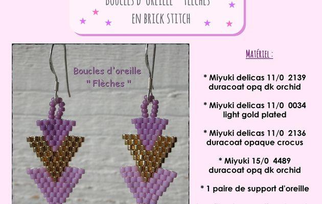 """Boucles d'oreille """" Flèches """""""