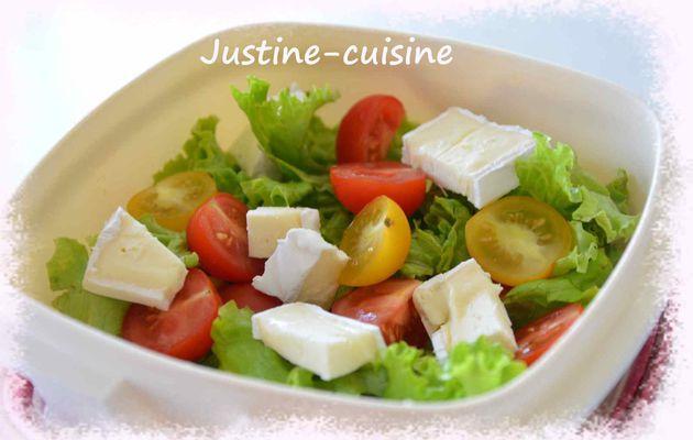 Salade aux tomates cerises et Caprice des Dieux
