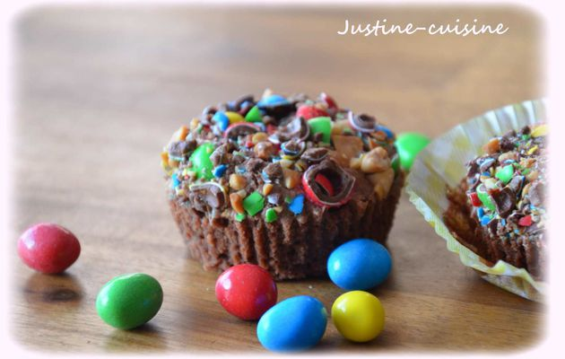 Brownies individuels aux M&M's