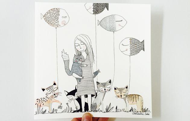 Cinq chats de Caro