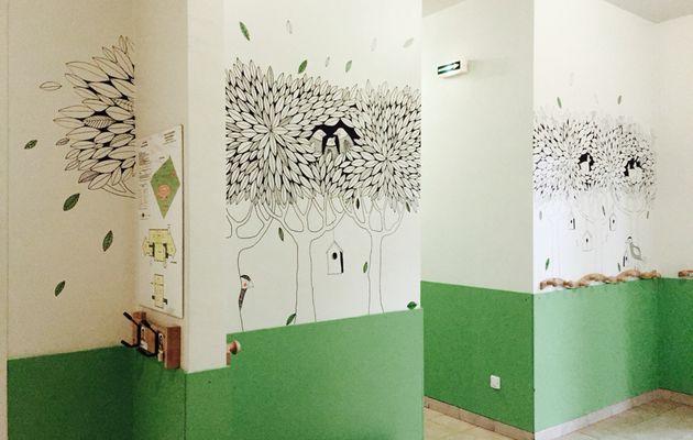 L'entrée d'école - peinture murale