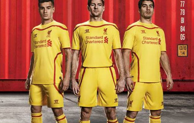 MAILLOTS 2014-2015 : LIVERPOOL, YELLOW IS BACK