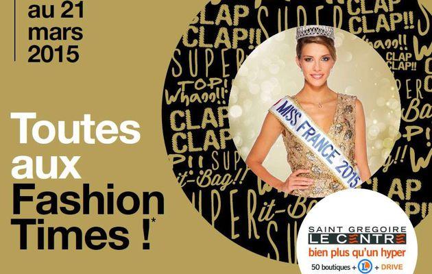 Camille Cerf, Miss France 2015 en dédicaces au Centre Commercial Leclerc Saint-Grégoire