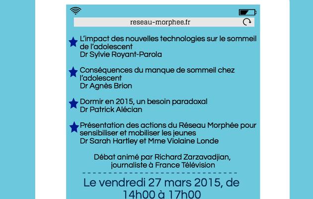 Table ronde Réseau Morphée - L'adolescent et son sommeil