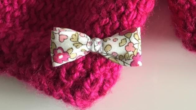 Une brassière tricotée avec amour...
