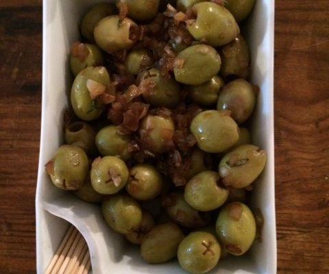 Olives vertes et marinade maison