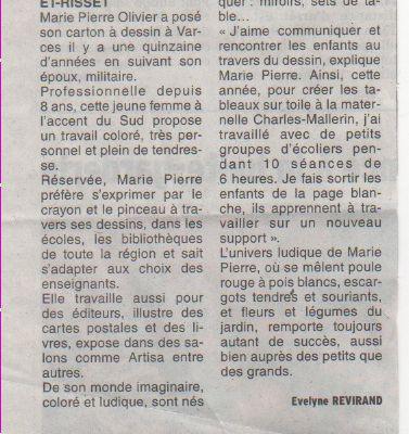 Article sur le Dauphiné libéré !