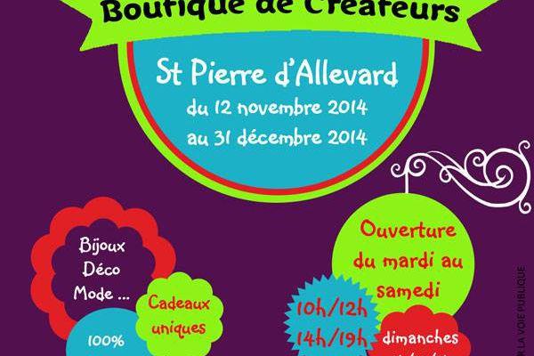 boutique  créateurs à St Pierre d'Allevard !