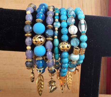 Collection de bleus