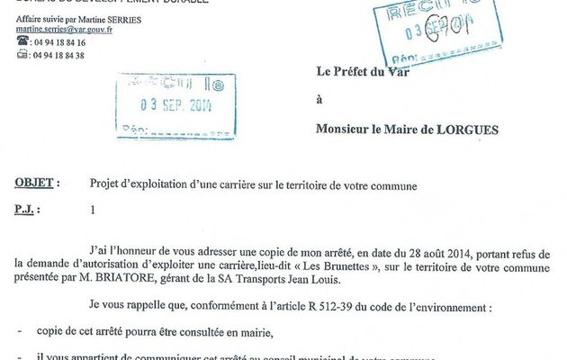 """""""Carrière des Brunettes"""", la mobilisation enfin récompensée."""
