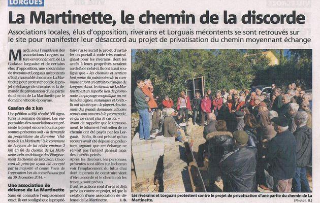 (Martinette 10) L'article de Var Matin avec la réponse de Monsieur le Maire.