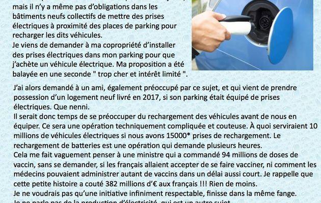 Des prises pour recharger les véhicules électriques, ça existe dans les bâtiments collectifs neufs ... ou anciens ?