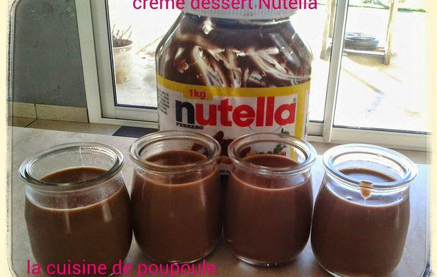 Crème dessert au Nutella au thermomix
