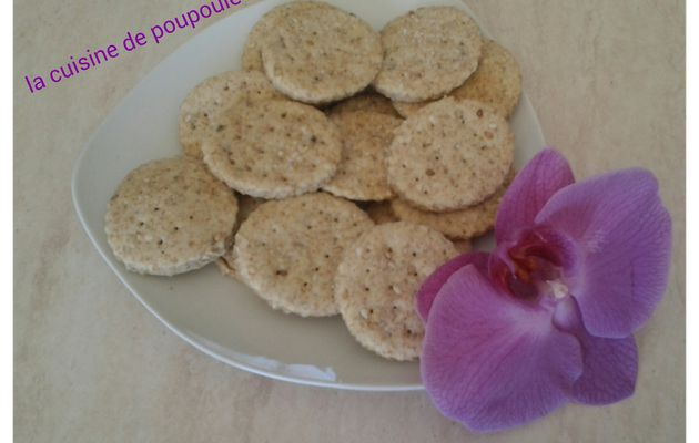 Crackers aux sésames au thermomix ou kitchenaid